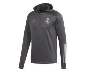 Training top à capuche Real Madrid Gris