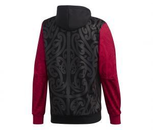Sweat à capuche Maori All Blacks Graphic Noir/Rouge