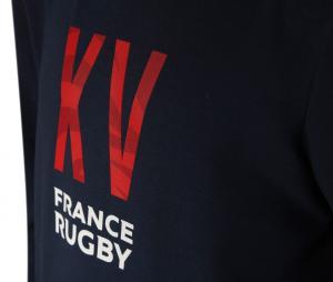 Sweat à capuche France Rugby Bleu Junior