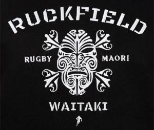 Sweat à capuche Ruckfield Maori Noir