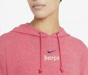 Sweat à capuche Barça Vintage Rose Femme