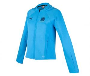 OM Casuals Woman's Hooded Jacket Blue