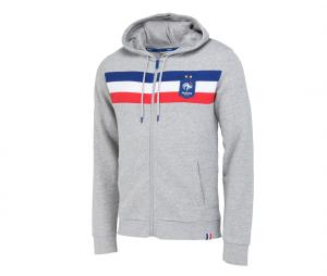 Veste à capuche France Fan Gris Junior