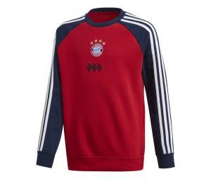 Sweat-shirt Bayern Munich Crew Rouge/Bleu Junior