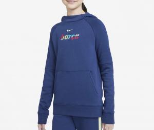 Sweat à capuche Barça Fleece Bleu Junior