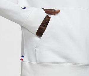 Sweat à capuche PSG Blanc