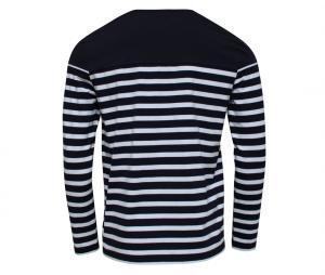 T-shirt Manches Longues Religion Rugby Marinière Bleu/Blanc