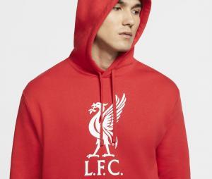 Sweat à capuche Liverpool Club Rouge