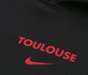 Sweat à capuche Stade Toulousain Noir Junior