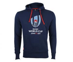 Sweat à capuche Coupe du Monde de Rugby 2019 Bleu