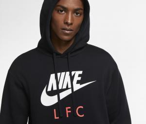 Sweat à capuche Liverpool Club Noir