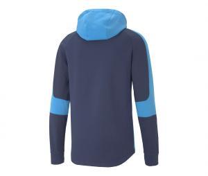 Sweat à capuche OM Bleu