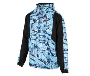 OM Woven Hooded Jacket Black/Blue