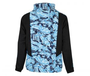 Chaqueta con capucha OM Woven Negro/Azul
