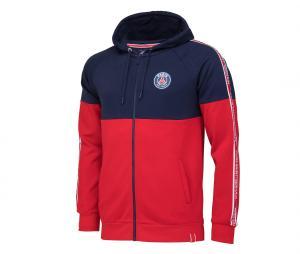 Veste à capuche PSG Rouge / Bleu