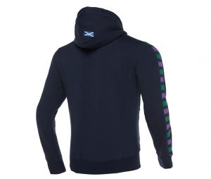 Veste à capuche Ecosse Bleu
