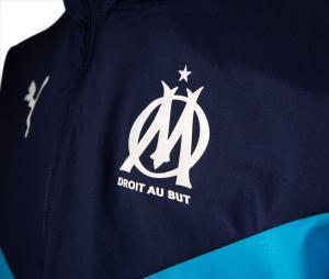 Veste OM Pré-Match Bleu