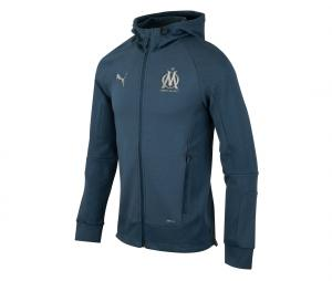OM Casuals Hooded Jacket Blue
