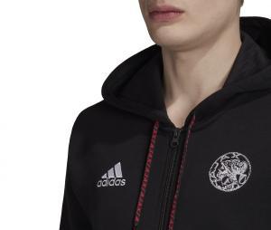 Veste à capuche Ajax Amsterdam Noir