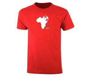 T-shirt Fan Maroc Rouge