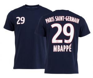 T-shirt PSG MBappé Fan Bleu Junior