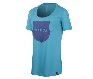 T-shirt FC Barcelone Bleu Femme