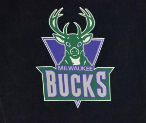 T-shirt Milwaukee Bucks, Noir