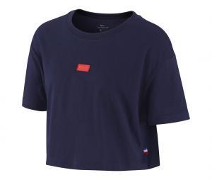 T-shirt France Voice Bleu Femme
