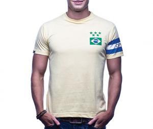 T-shirt Vintage Brésil Capitaine Jaune