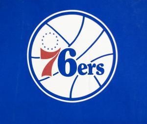 T-shirt Philadelphie 76ers, Bleu