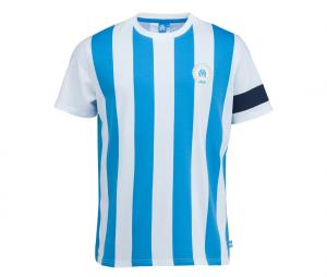 T-shirt Marseille Capitaine Blanc/Bleu Junior