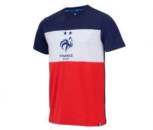 T-shirt France Tricolore Bleu/Blanc/Rouge