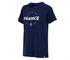 T-shirt France Fan Bleu Femme