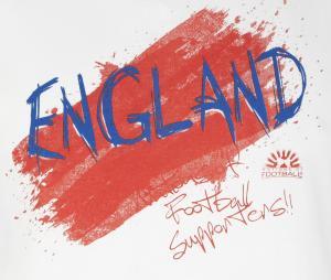 T-shirt Graphique Angleterre Blanc Junior