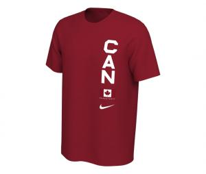 T-shirt Canada Team Rouge