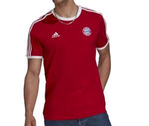 T-shirt Bayern Munich 3 Stripes Rouge