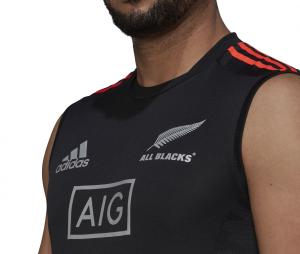 Débardeur All Blacks Primeblue Rugby Performance Noir
