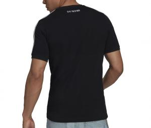 T-shirt Juventus 3 Stripes Noir