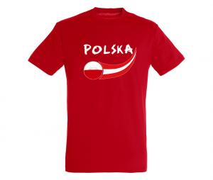 T-shirt Pologne Rouge