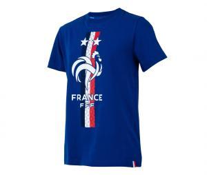 T-shirt France Fan Bleu Junior
