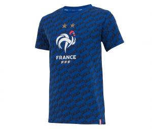 T-shirt France All Over Bleu Junior