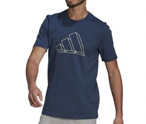 T-shirt adidas Sportswear Graphic Bleu