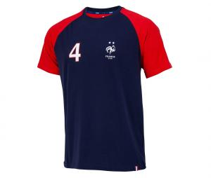 T-shirt France Varane 4 Bleu/Rouge Junior