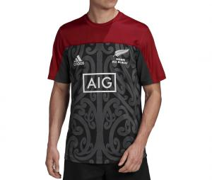 T-shirt Maori All Blacks Performance Noir/Rouge