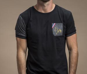 T-shirt Religion Rugby Black Rooster Noir