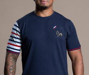T-shirt Religion Rugby Bras Marinière Bleu