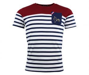 T-shirt Religion Rugby Marinière Blanc/Bleu