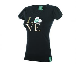 T-shirt AS Saint-Etienne Love Noir Fille