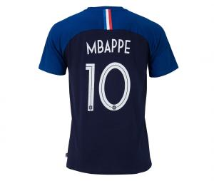 T-shirt France Mbappe N°10 Bleu Junior 2 etoiles