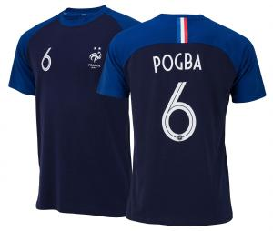 T-shirt France Pogba N°6 Bleu Junior 2 etoiles